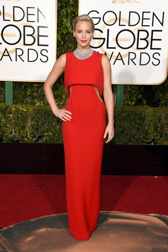 Jennifer Lawrence's Gown at the Golden Globe Awards 2016