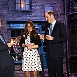 Prince Harry and Prince William joked about their wands with Kate Middleton.