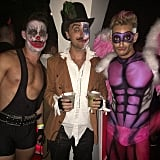 Fiancés Lance Bass and Michael Turchin showed off their looks with Frankie Grande, Ariana Grande's brother, who was covered in body paint that made his muscles pop.