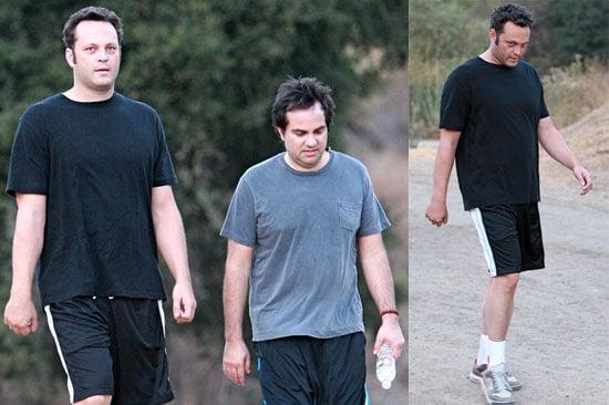 Photos of Vince Vaughn Hiking in LA