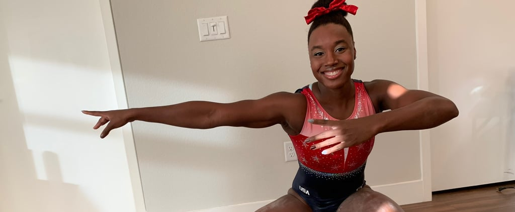 Simone Manuel Dresses as Simone Biles For Halloween 2019
