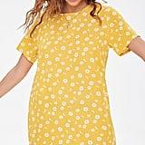 Forever 21 Daisy Print T-Shirt Dress