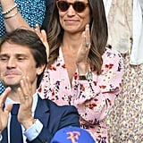 Pippa Middleton's Pink Floral Dress at Wimbledon 2019