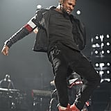 Usher might be 36, but he still dances as if there were no tomorrow. The singer performed in Miami.