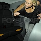 Chelsy Davy heads home.