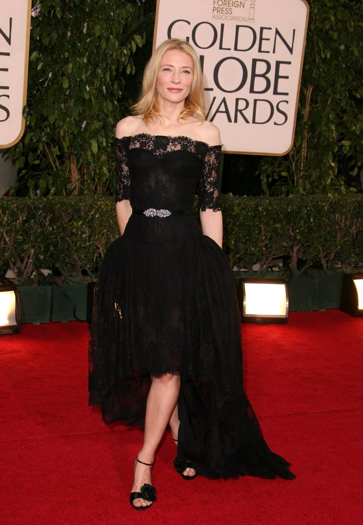 Cate Blanchett in Black Lace Alexander McQueen at the 2007 Golden Globe Awards