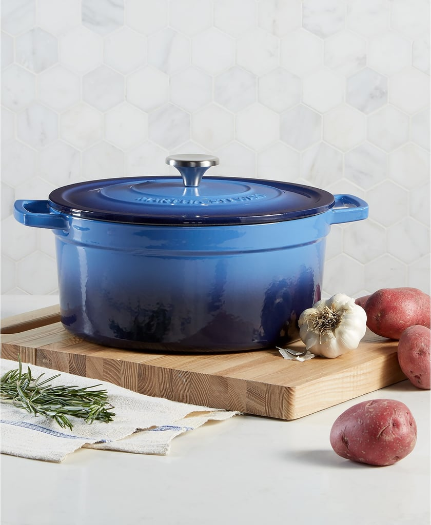 Martha Stewart Collection Enameled Cast Iron Round 6-Qt. Dutch Oven