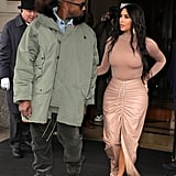 Kim Kardashian and Kanye West at the SKIMS Nordstrom Launch