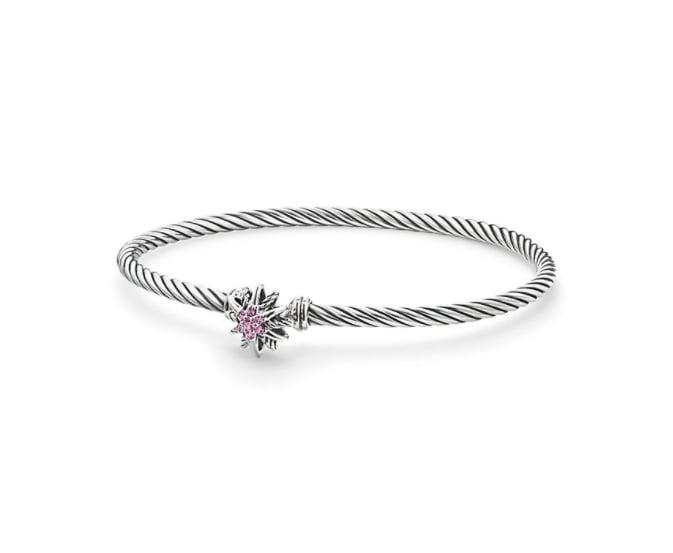 David Yurman Starburst Bracelet with Pink Sapphires