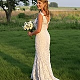 Even before he toasted with the Clintons, Oscar de la Renta had presidential tie-ins. Jenna Bush Hager walked down the aisle in an embroidered column gown by the designer in May 2008.
