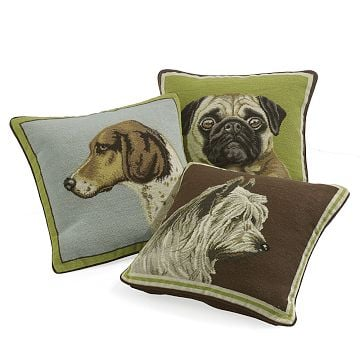 Williams-Sonoma Home Canine Portrait Pillows