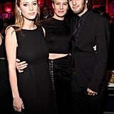 Robin Wright met up with her kids, Dylan and Hopper Penn, at the InStyle and Warner Bros. afterparty.
