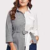 Shein Self-Tie Cut and Sew Shirt