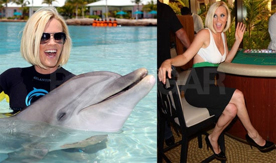 Photos of Jenny McCarthy With Dolphins in Atlantis