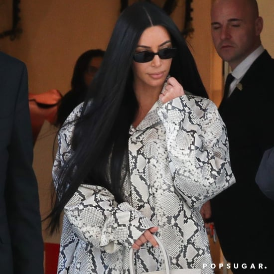 Kim Kardashian and North West Matching Snakeskin Outfits