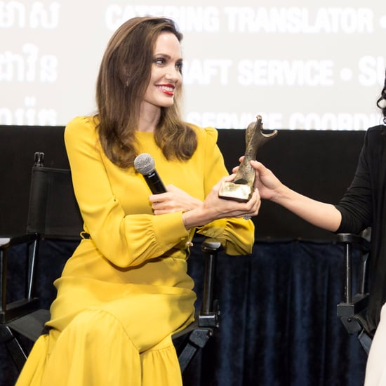 Angelina Jolie's Yellow Co Dress