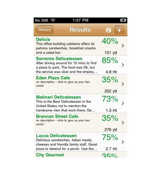 Eats-To-Go Takeout Food Locator