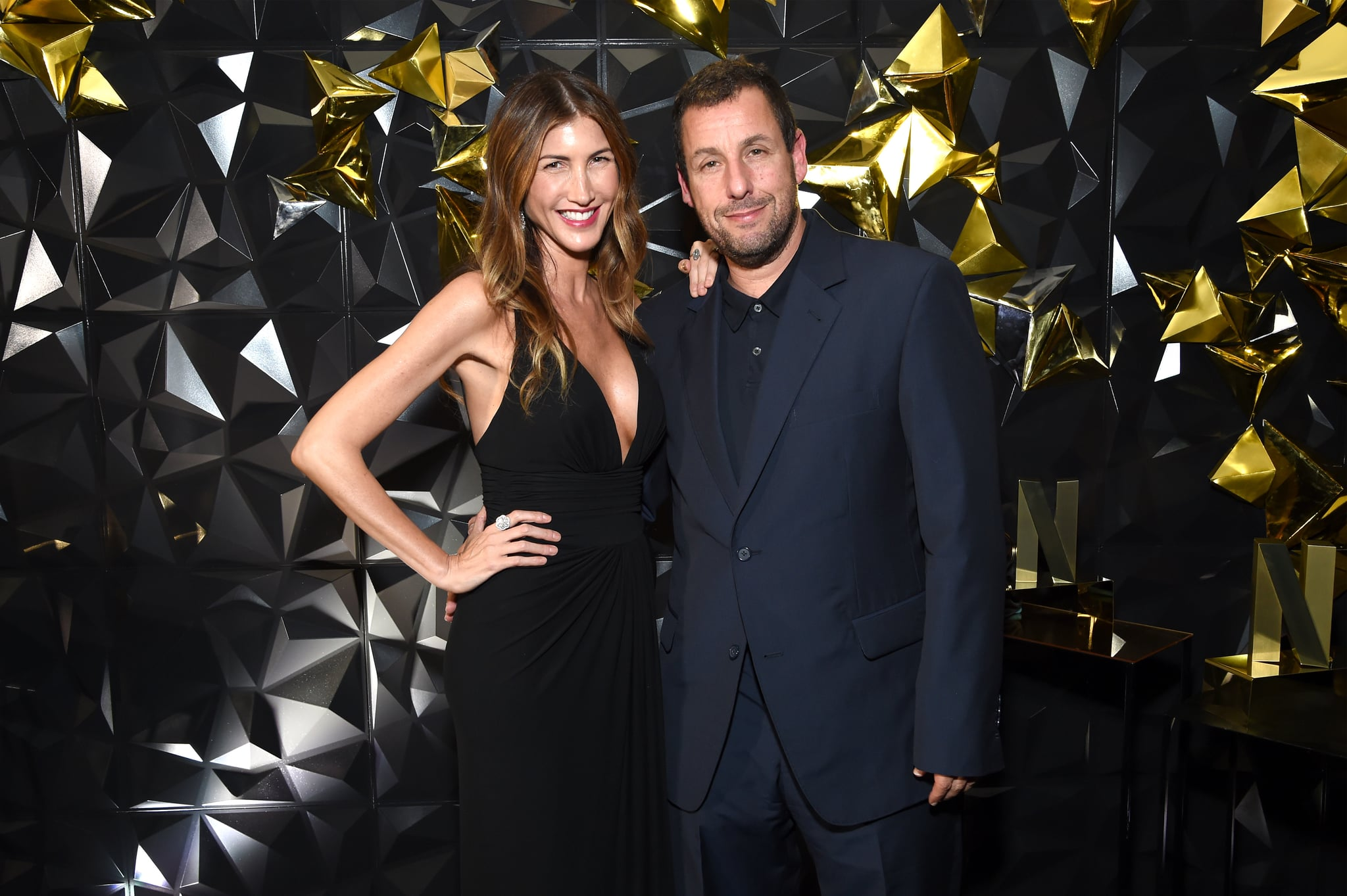 LOS ANGELES, CALIFORNIA - SEPTEMBER 22: Jackie Sandler and Adam Sandler attend the 2019 Netflix Primetime Emmy Awards After Party at Milk Studios on September 22, 2019 in Los Angeles, California. (Photo by Michael Kovac/Getty Images for Netflix )