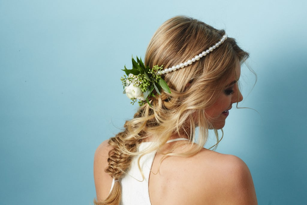 The Flower Piece: Half Moon Flower Crown With Pearl Headband