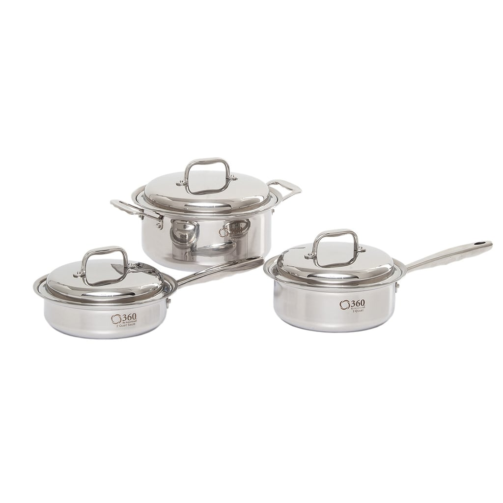 Six-Piece Stainless Steel Cookware Set from 360 Cookware