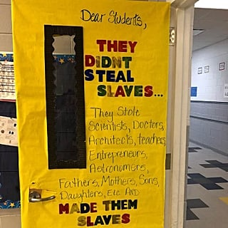 Teacher's Black History Month Door