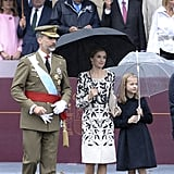Celebrating Spain's National Day with Princess Leonor.