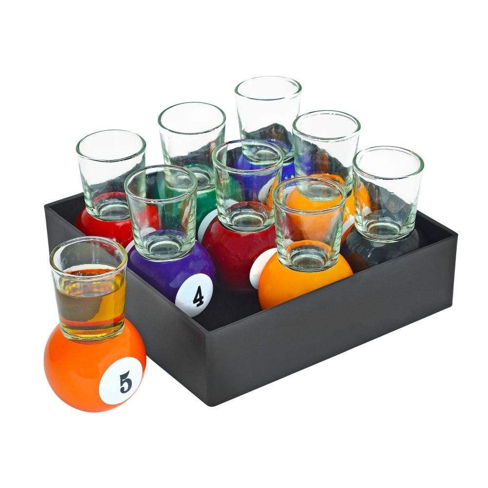 Fairly Odd Novelties Billiards Shot Glass Set