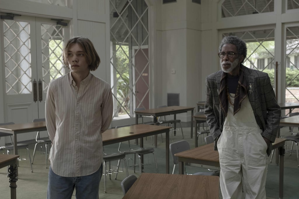 Charlie Plummer as Miles Halter and Ron Cephas Jones as Dr. Hyde in Looking For Alaska