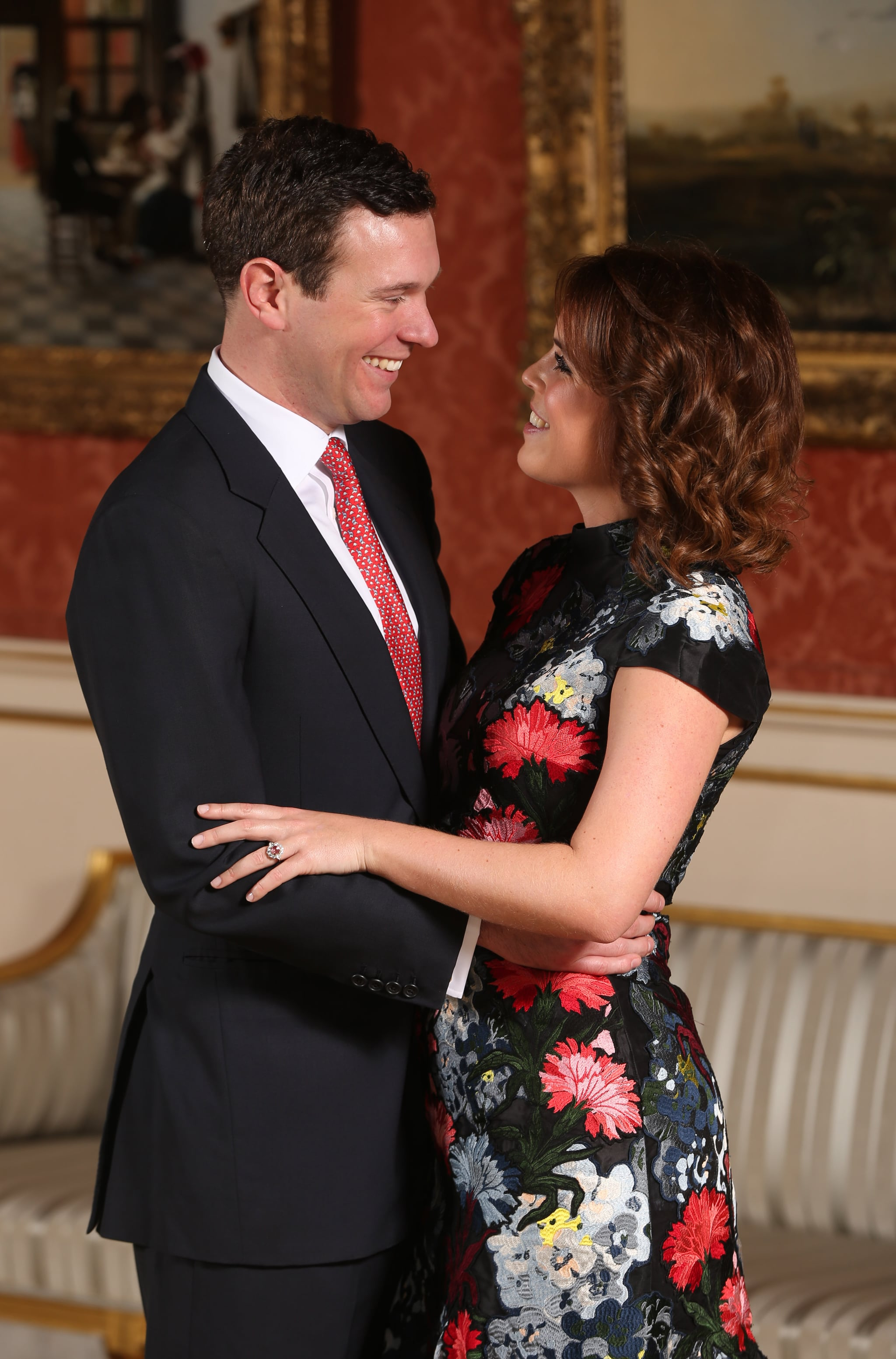 ECI Floral Embroidered Shift Dress | Princess Eugenie's