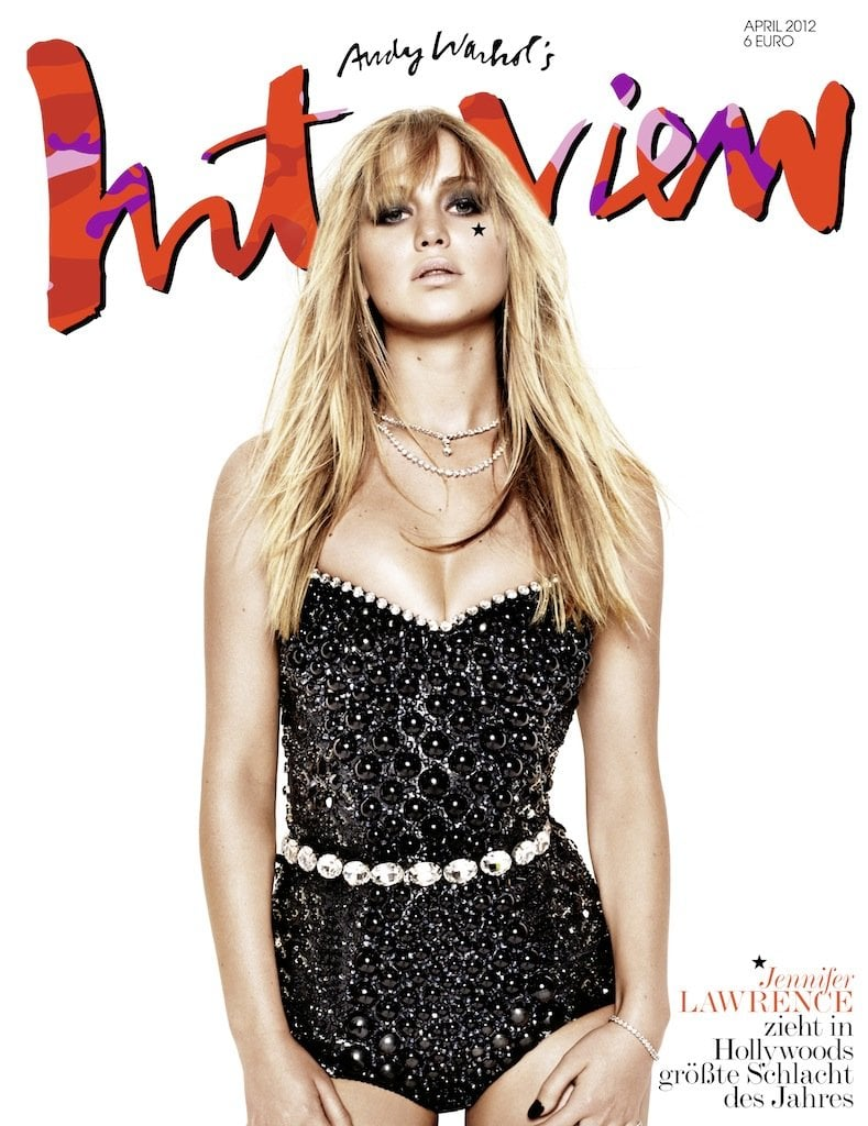 Jennifer Lawrence posed for a sexy spread in German Interview's April 2012 issue.