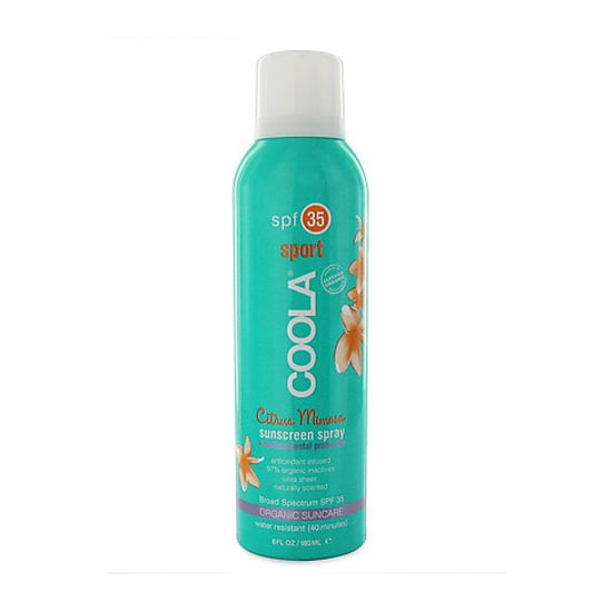 For a sunscreen that can stand up against all your sporty circumstances while containing 97 percent certified organic inactive ingredients (including red raspberry seed oil, a natural sun protectant), pick up Coola Sport Citrus Mimosa Sunscreen Spray ($32).