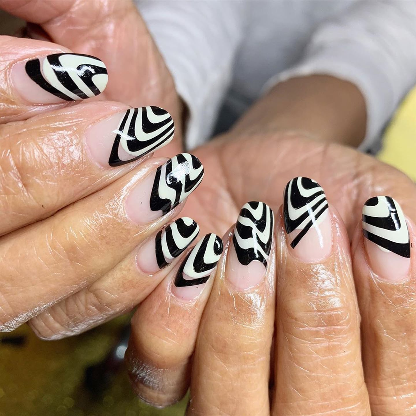 Image result for Black and White Nail Trend