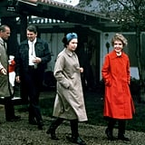 Queen Elizabeth II and Prince Philip walked with the Reagans at Rancho Del Cielo on March 3, 1983.