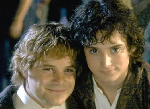 Samwise Gamgee And Frodo Baggins Lord Of The Rings The Fellowship Of The Ring The Best Movie Bromances From The Wedding Crashers 21 Jump Street And More Popsugar Celebrity Australia Photo 10