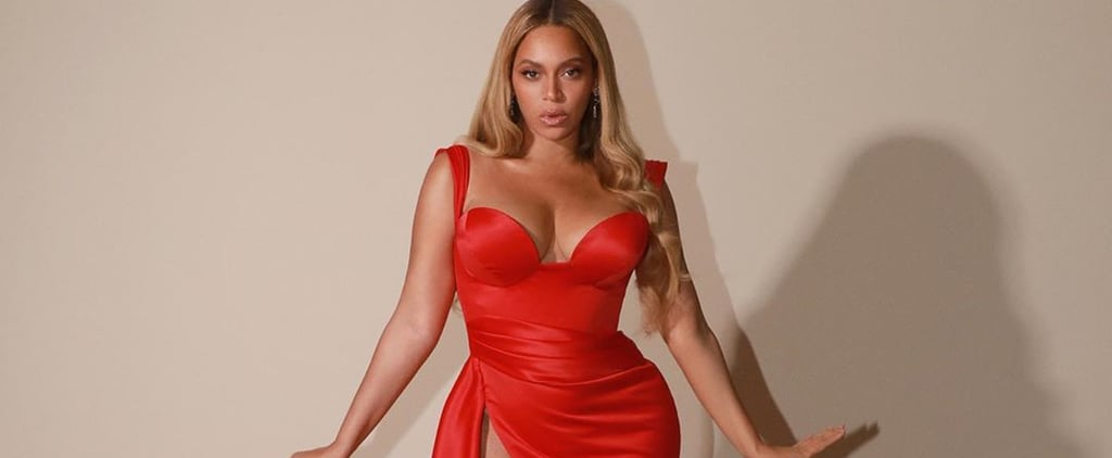 Beyoncé Wears Valdrin Sahiti Dress to Clive Davis Gala