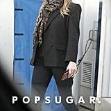 Jennifer Aniston Blazer and Sneakers