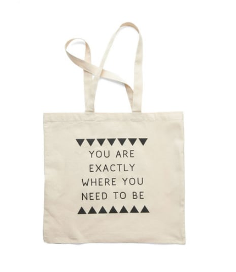 Right on Schedule Tote ($15)