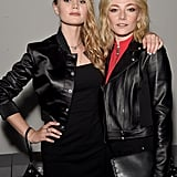 Immy Waterhouse and Clara Paget at Versus