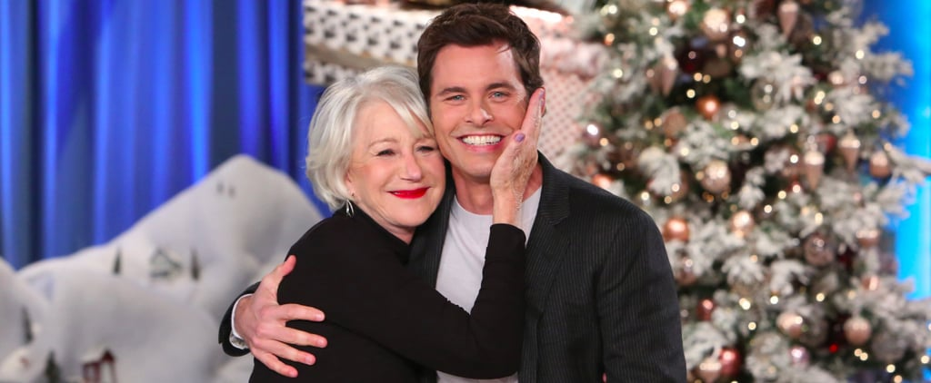 James Marsden Falls to the Floor When His Crush, Helen Mirren, Surprises Him on Ellen