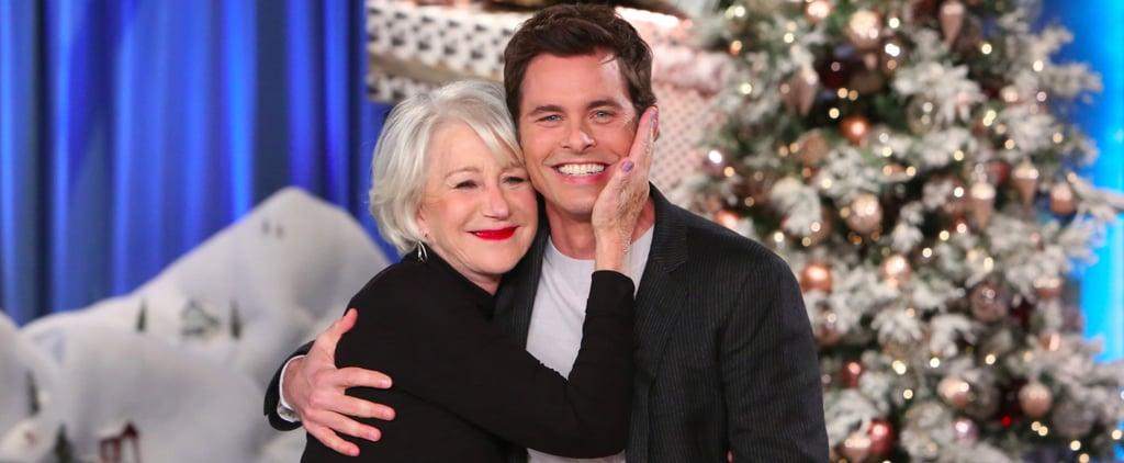James Marsden Meeting Helen Mirren on The Ellen Show 2016