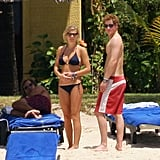 29/12/2008 Shirtless Prince Harry and Chelsy Davy in Bikini