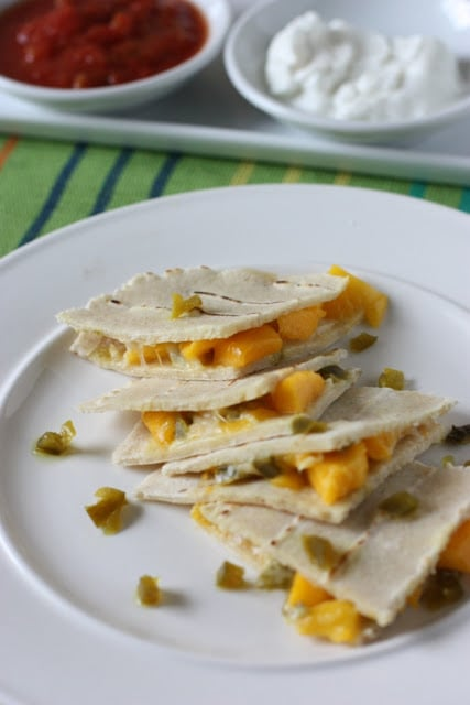 Mango and Jalapeño Quesadillas