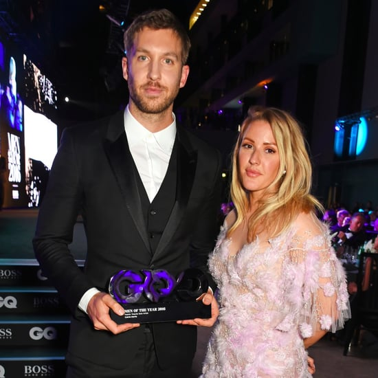 Calvin Harris and Ellie Goulding at GQ Awards September 2016