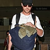 Ryan Gosling sported shades and a hat.