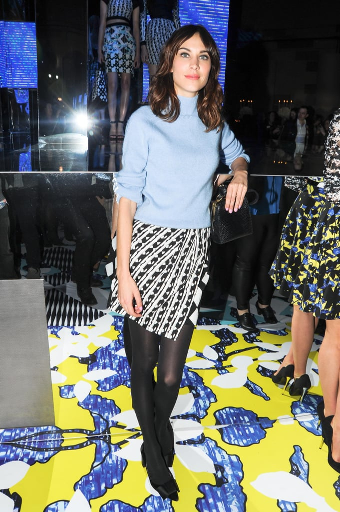 Alexa Chung at Target's party for its Peter Pilotto collaboration.