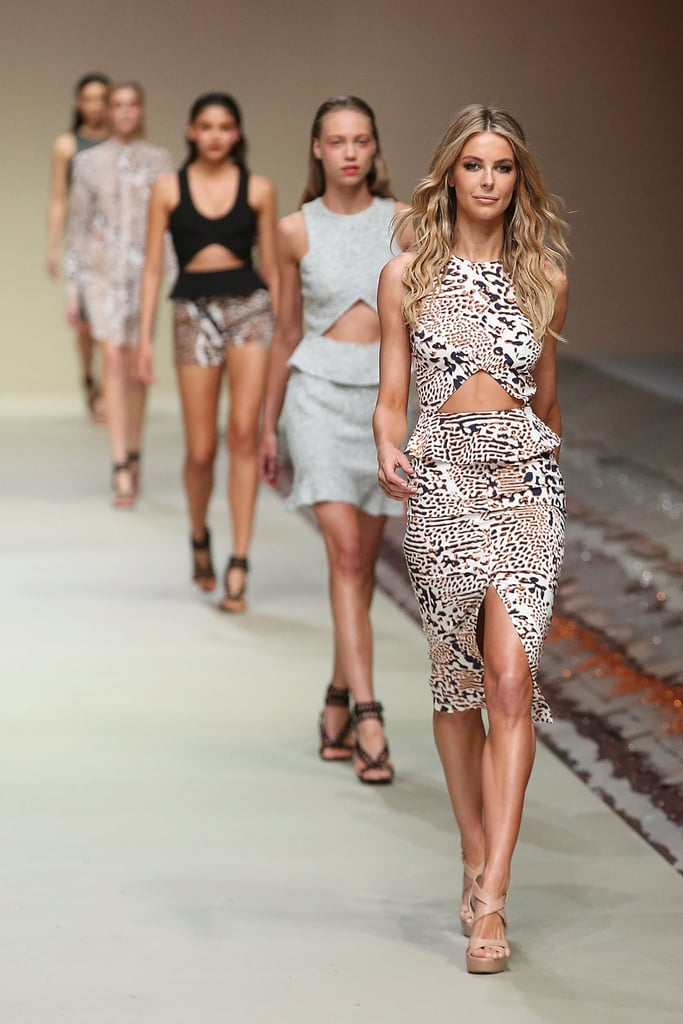 Animal instincts put Jen at the front of the pack at the Myer Spring/Summer launch in August 2013.