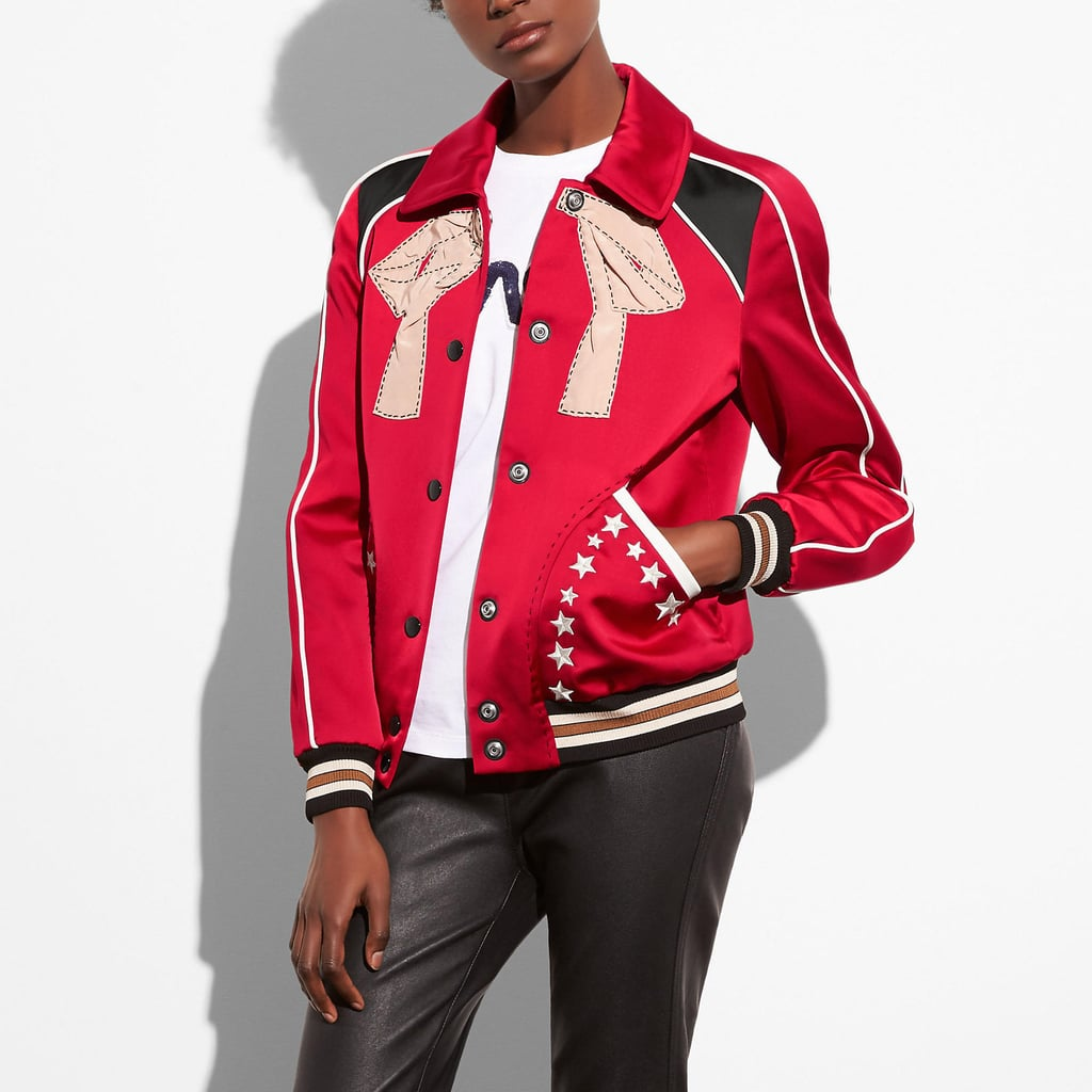 Coach Embroidered Varsity Souvenir Jacket