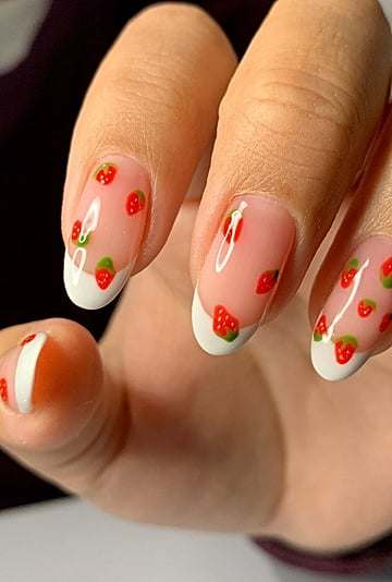 Nail Art Stickers to Create the Fruit Manicure at Home