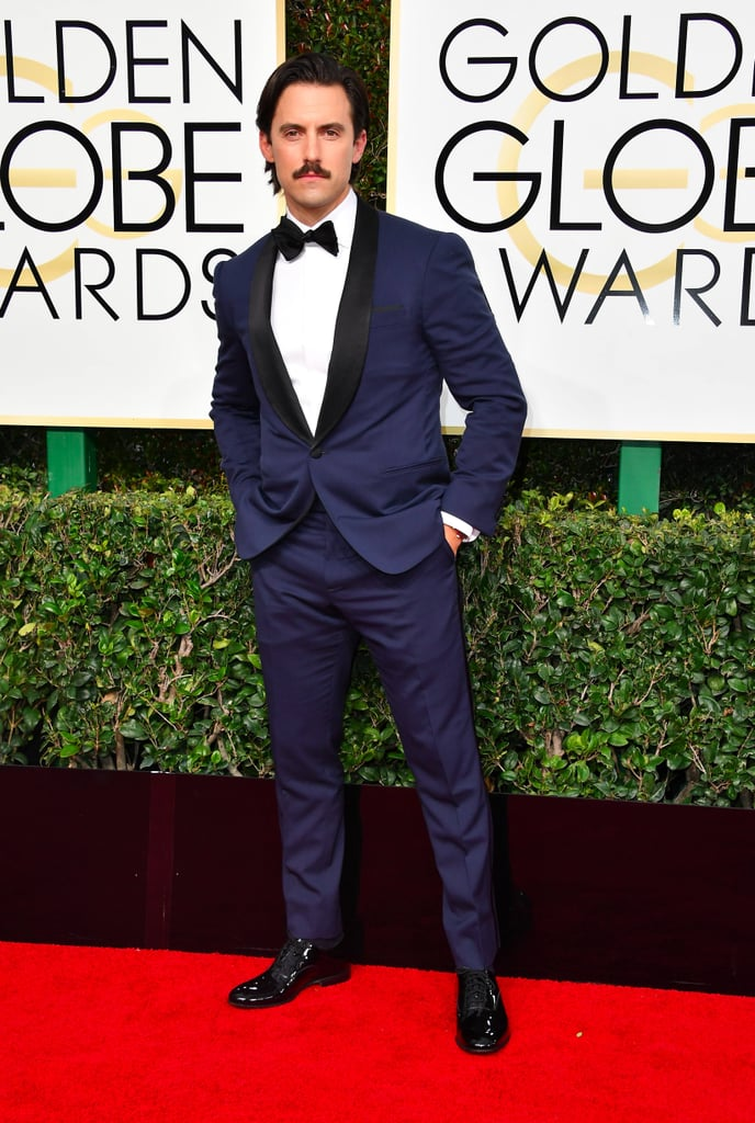 Hot guys at the 2017 golden globe awards popsugar celebrity for Celebrity watches male 2017