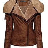 I was pleasantly surprised to find out that this faux sheepskin jacket (£75) was such a bargain.